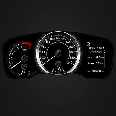 PANTALLA MULTI-INFORMACIÓN   Controla el performance del nuevo Corolla.