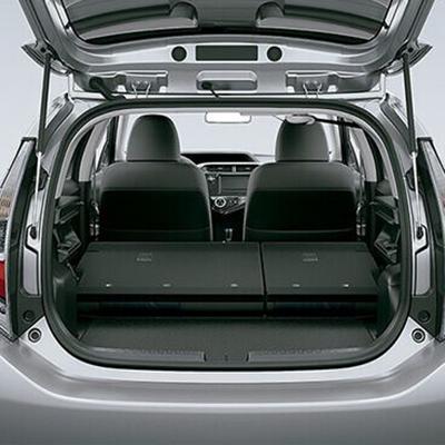 Capacidad de Almacenaje   Amplía tu espacio para llevar cosas, con los asientos posteriores rebatibles 60:40. Configúralos según tus necesidades.