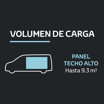 Panel Techo Alto (DX).   La versión más amplia cuenta con un techo alto que eleva su volumen de carga hasta los 9.3 metros cúbicos; incluso es capaz de albergar hasta 4 pallets de estándar europeo.
