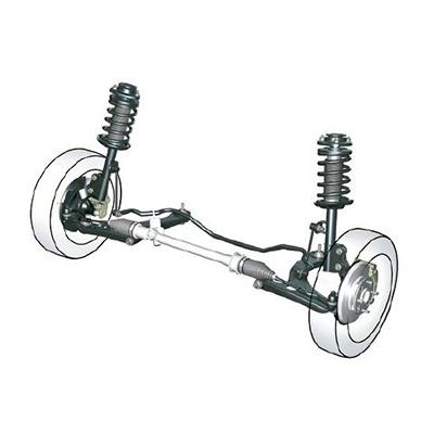 Suspensión optimizada.   Avanza combina una suspensión delantera independiente tipo McPherson con barra estabilizadora, y una suspensión posterior de eje rígido multi-link.