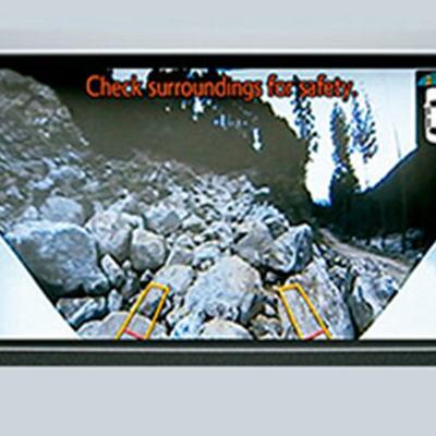 """Monitor Multiterreno   Observa tu entorno desde la pantalla táctil de 8"""" gracias a 4 cámaras repartidas en el frente, posterior y laterales de tu Land Cruiser Prado. (En versión VX)."""