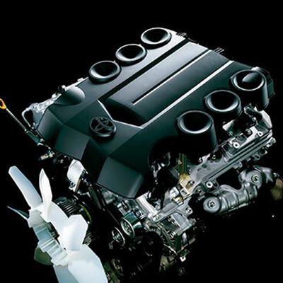 Motor   Motores de alta performance, con sistema de apertura y cierre de válvulas VVT-i Dual. Disponibles en 1GR-FE (4 litros y 270.9 HP) y 2TR-FE (2.7 litros y 163.6 HP).
