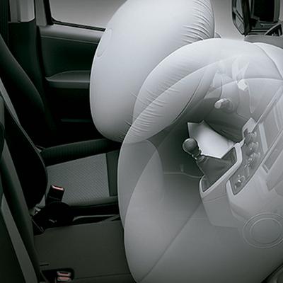Airbags SRS.   Cada viaje será más seguro gracias a las bolsas de aire ubicadas en los asientos de piloto y copiloto (disponible según versión).
