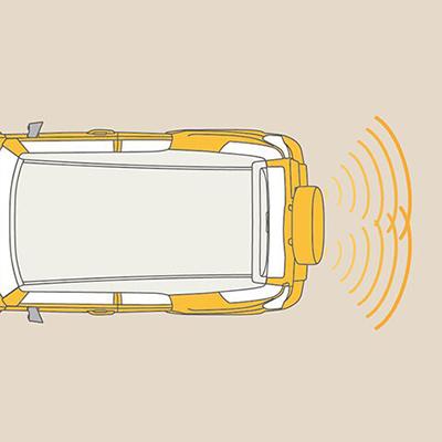 Asistentes de parqueo   Estacionar es fácil con el Sensor de Retroceso, que avisa de obstáculos detrás de la FJ. Para una mejor vista, cuenta con una Cámara de Retroceso.