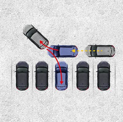 ASISTENTE DE ESTACIONAMIENTO INTELIGENTE   Detente frente al lugar en el que deseas estacionar y presiona el botón S-IPA para activar el asistente inteligente.