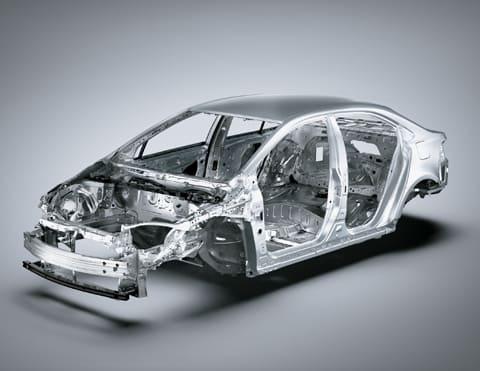 PLATAFORMA TNGA Plataforma modular desarrollada por Toyota que le brinda mayor seguridad al Nuevo Corolla Cross, dándole una mejor visibilidad y estabilidad a la hora de conducir.